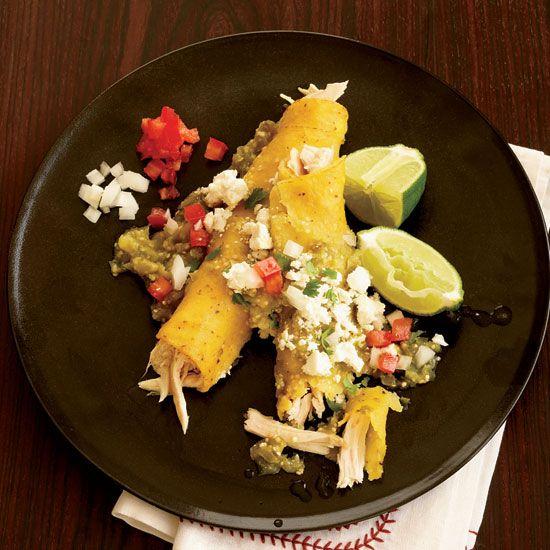 Chicken And Cheese Enchiladas Verdes
