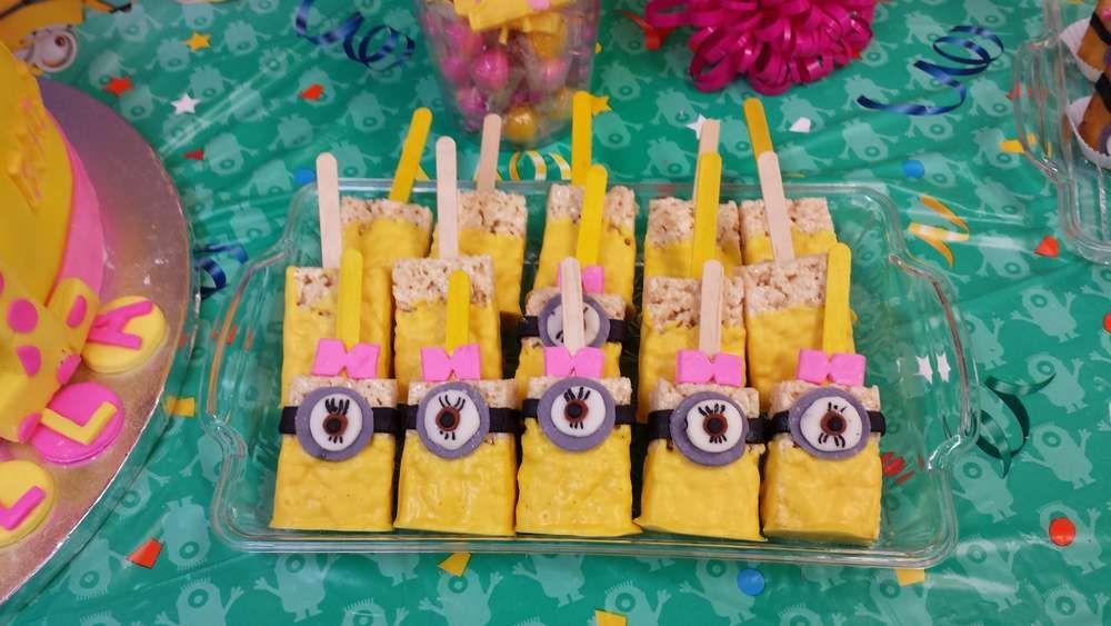 girl minion Birthday Party Ideas Girl minion Birthday party ideas