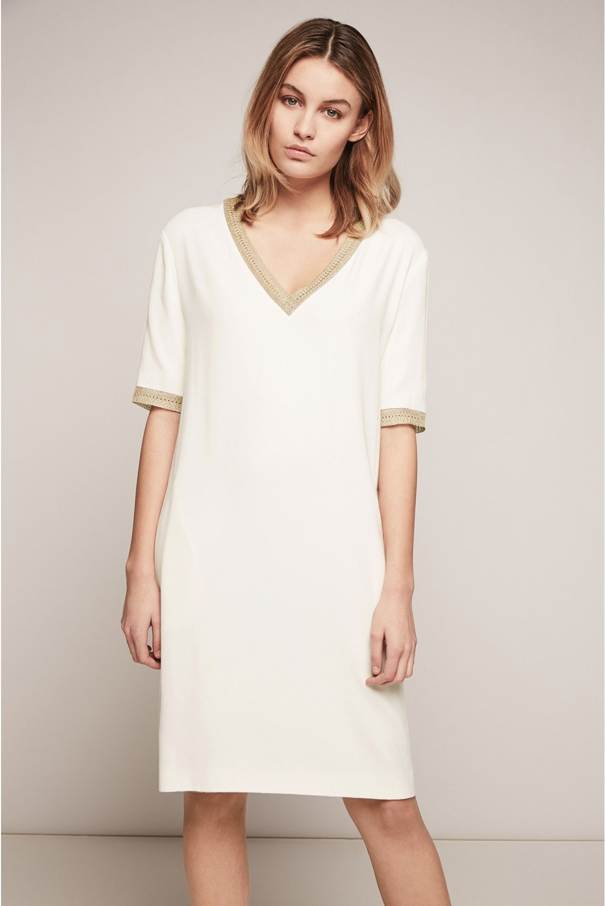 Harmony Dress Ecru Gerard Darel 1