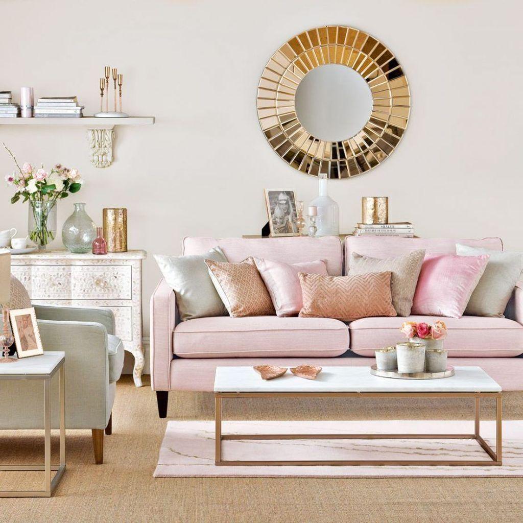 50 lovely pink living room decor ideas  pink living room