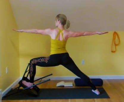 virabhadrasana 2  iyengar yoga yoga props standing poses