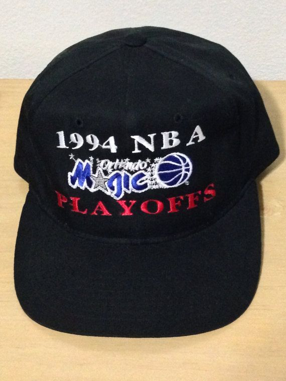 Starter Orlando Magic 90s NBA Playoffs Shaq Snapback Black Hat Cap on Etsy 20def63393e1