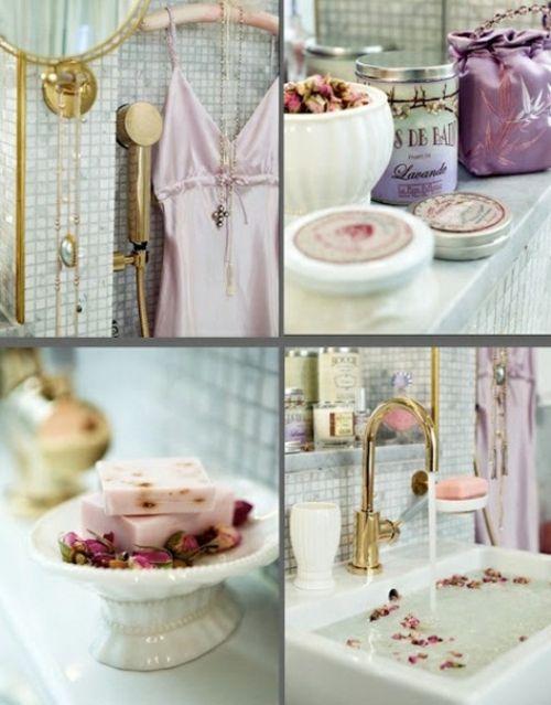 Badezimmer Möbel   Romantische Akzente