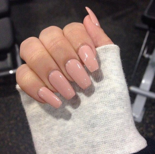 Prom Nail Ideas For Long: Light Pink Acrylic Nails - Google Search