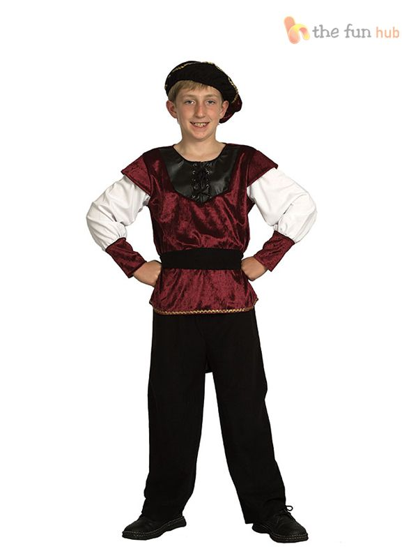 Girls Boys Renaissance Prince Princess Costume Kids Tudor Fancy Dress Book Day