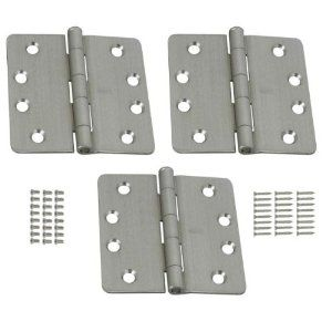Stanley 821 546 4 Inch 1 4 Radius Template Door Hinges Satin Chrome Pack Of 3 By Stanley 6 97 For Use On Interior Home Hardware Home Doors Doors Interior