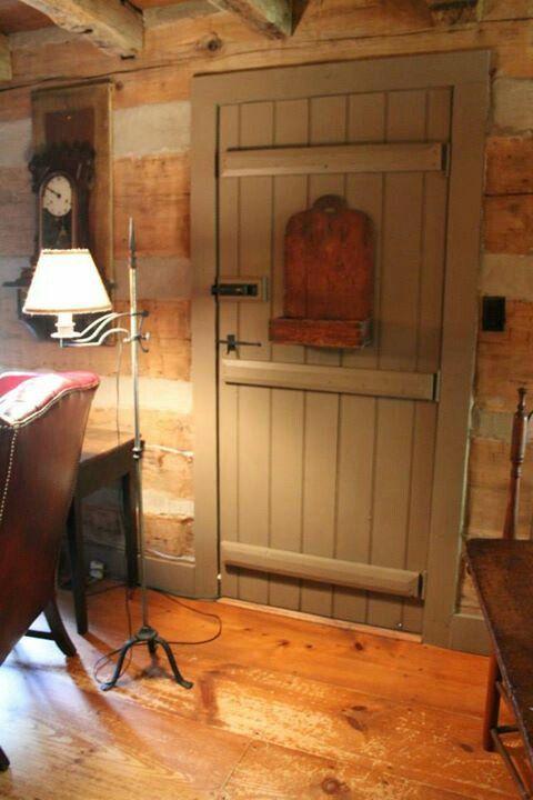 Love This Primitive Front Door Interior Barn Doors In 2018