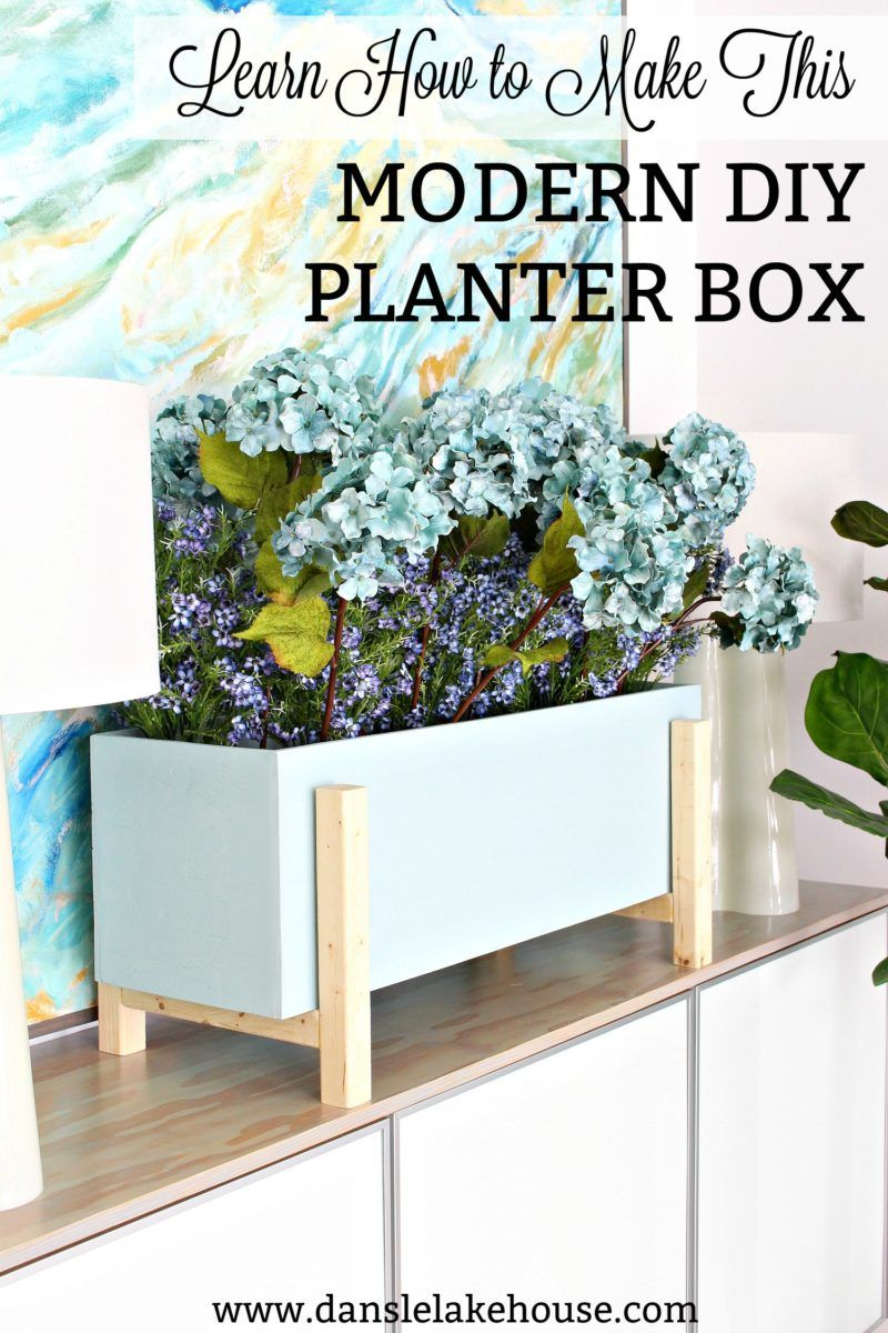 Modern Diy Planter Box For Faux Plants Diy Planter Box 400 x 300
