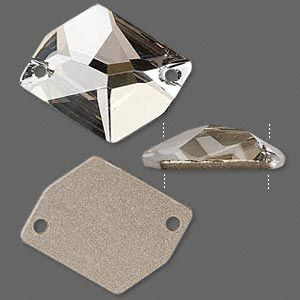 Sew-on component, Swarovski crystal, Crystal Passions®, crystal ...