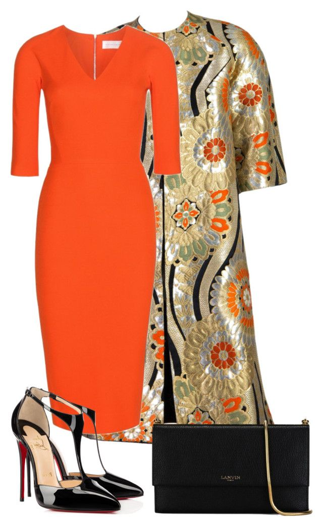 """""""Gold, Orange and Black"""" by eimhear93 on Polyvore"""