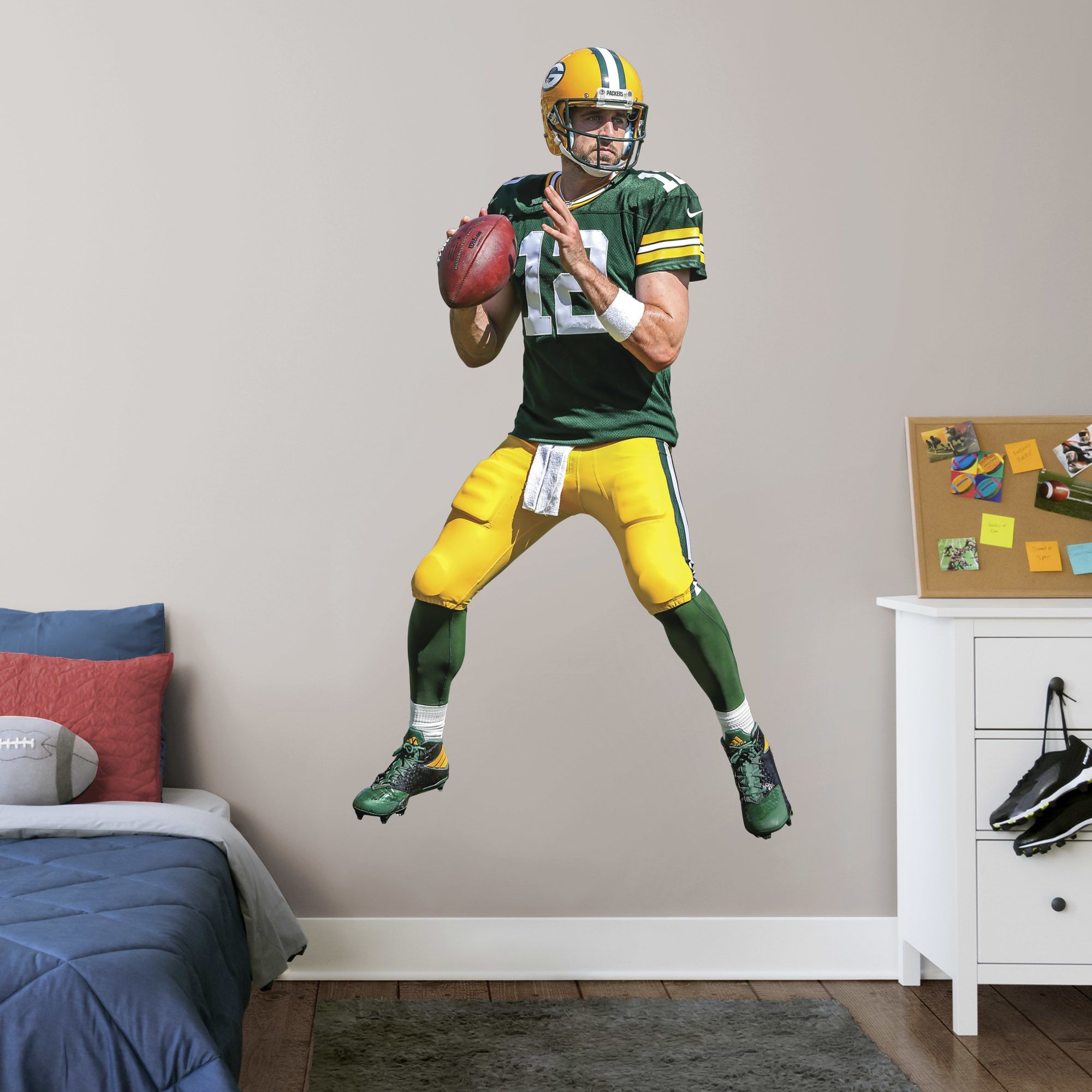 01a6a58590c Put your passion on display with a giant Aaron Rodgers - Life-Size Officially  Licensed NFL Removable Wall Decal Fathead wall decal!