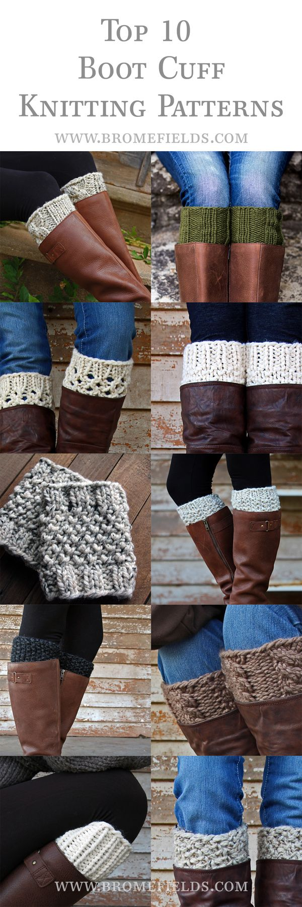 Top 10 Boot Cuff Knitting Patterns for 2016! | Brome Fields Blog ...