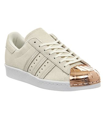 adidas superstar rose gold metallic white leather