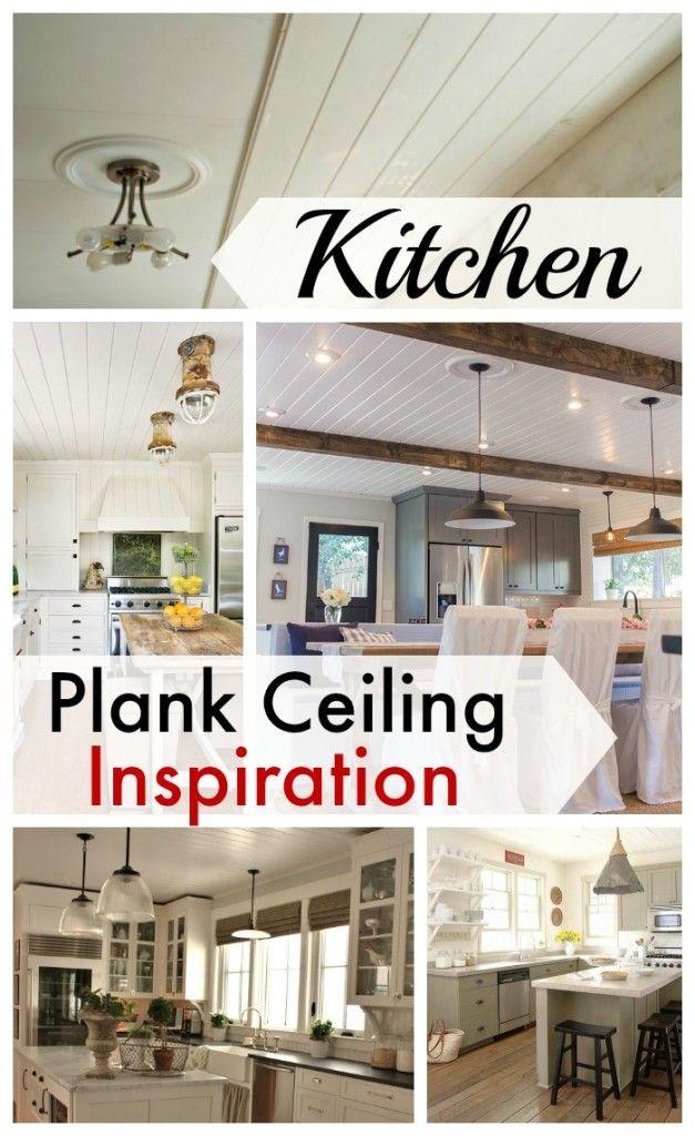 Plank ceiling inspiration for the kitchen chatfieldcourt com