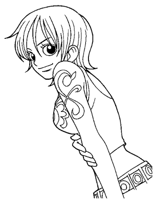 Anime Manga One Piece Coloring Pages Printable Online
