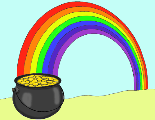 How To Draw A Pot Of Gold At The End Of A Rainbow In Easy Steps How To Draw Step By Step Drawing Tutorials Gold Drawing Pot Of Gold Rainbow Drawing