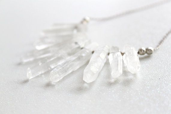 Large Quartz Crystal Point and Sterling Silver by ORCHIDandREPTILE