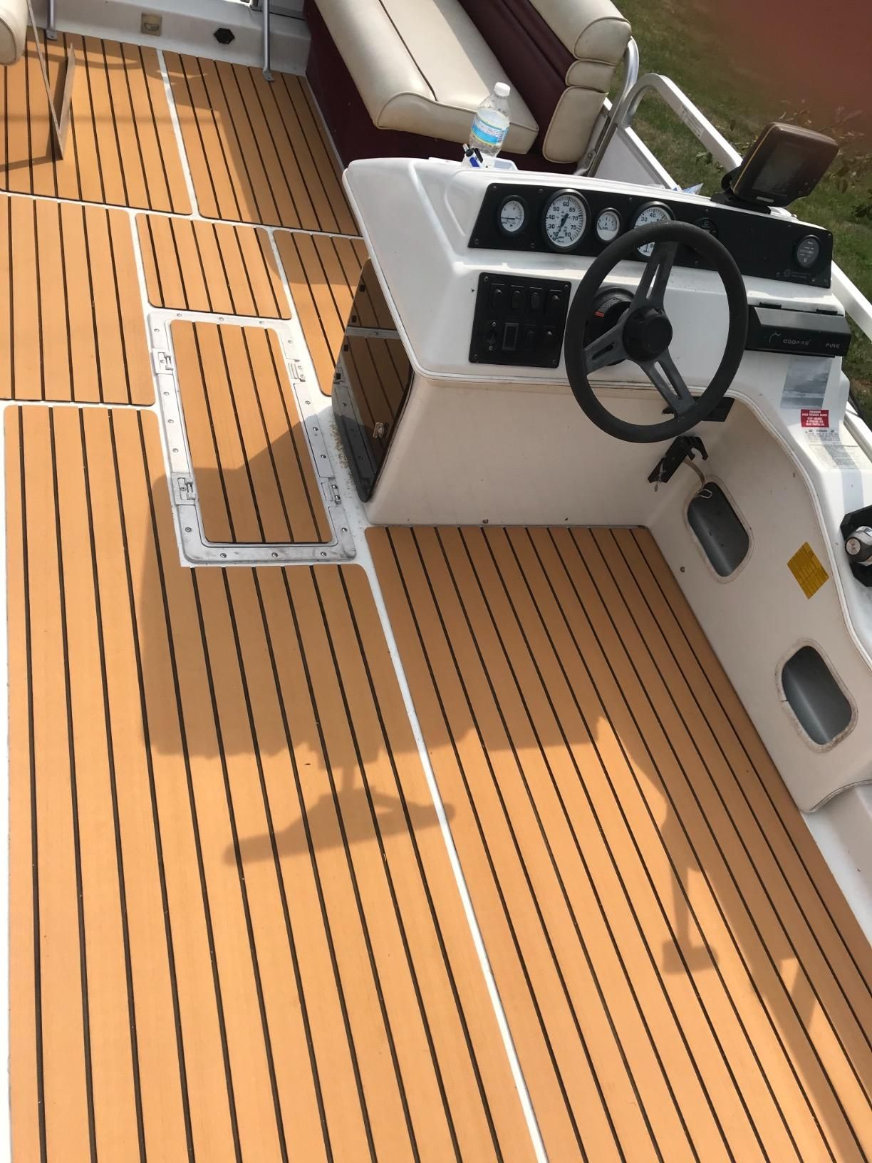 Amazon Com Customer Reviews Happybuy Eva Foam Faux Teak Boat Decking Sheet 94 5 X47 2 94 5 X35 4 90 5 X35 4 Non Skid Self Adhesive Sea Deck Teak Flooring
