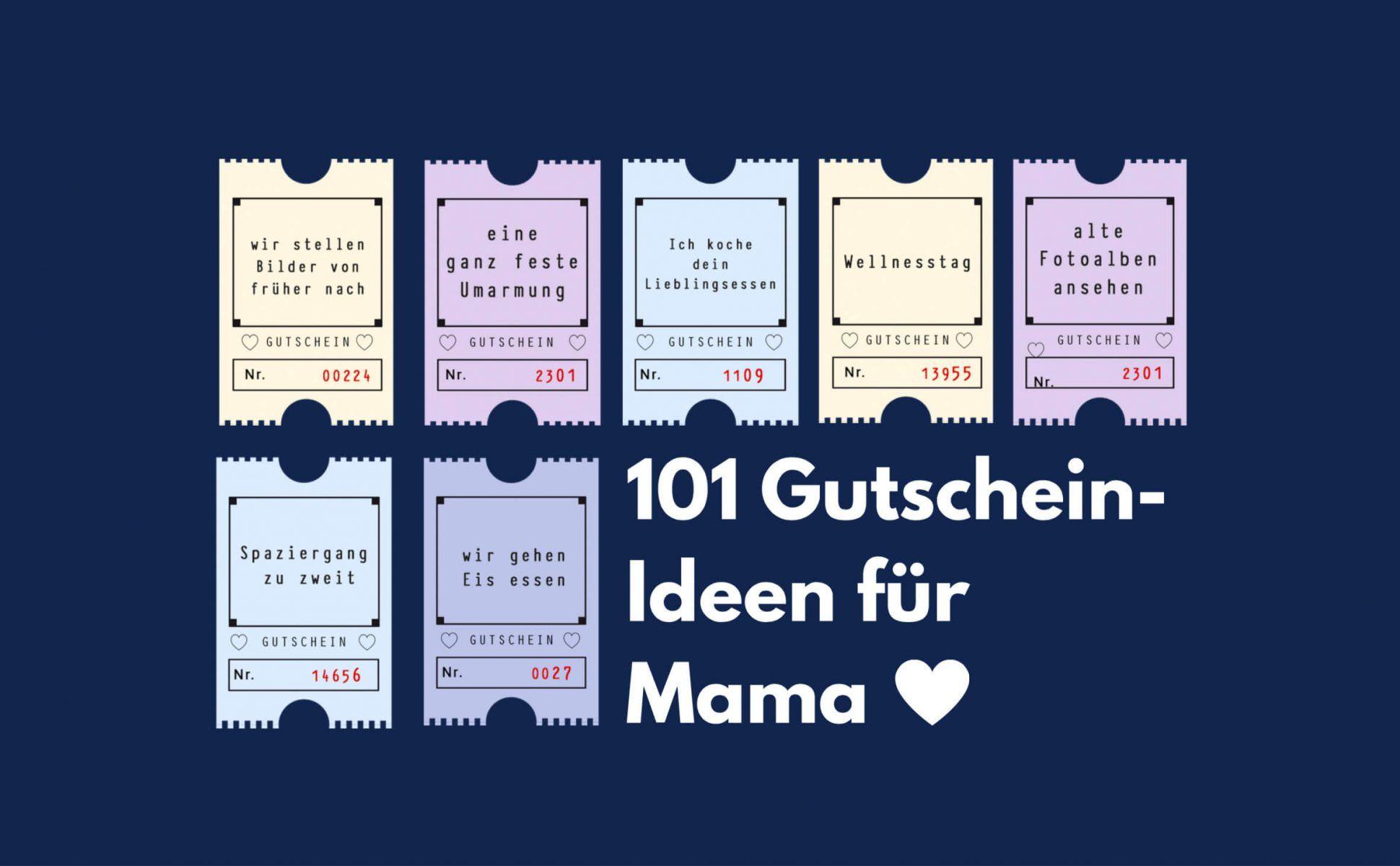Gutscheine Fur Mama 101 Ideen Fur Die Perfekte Uberraschung