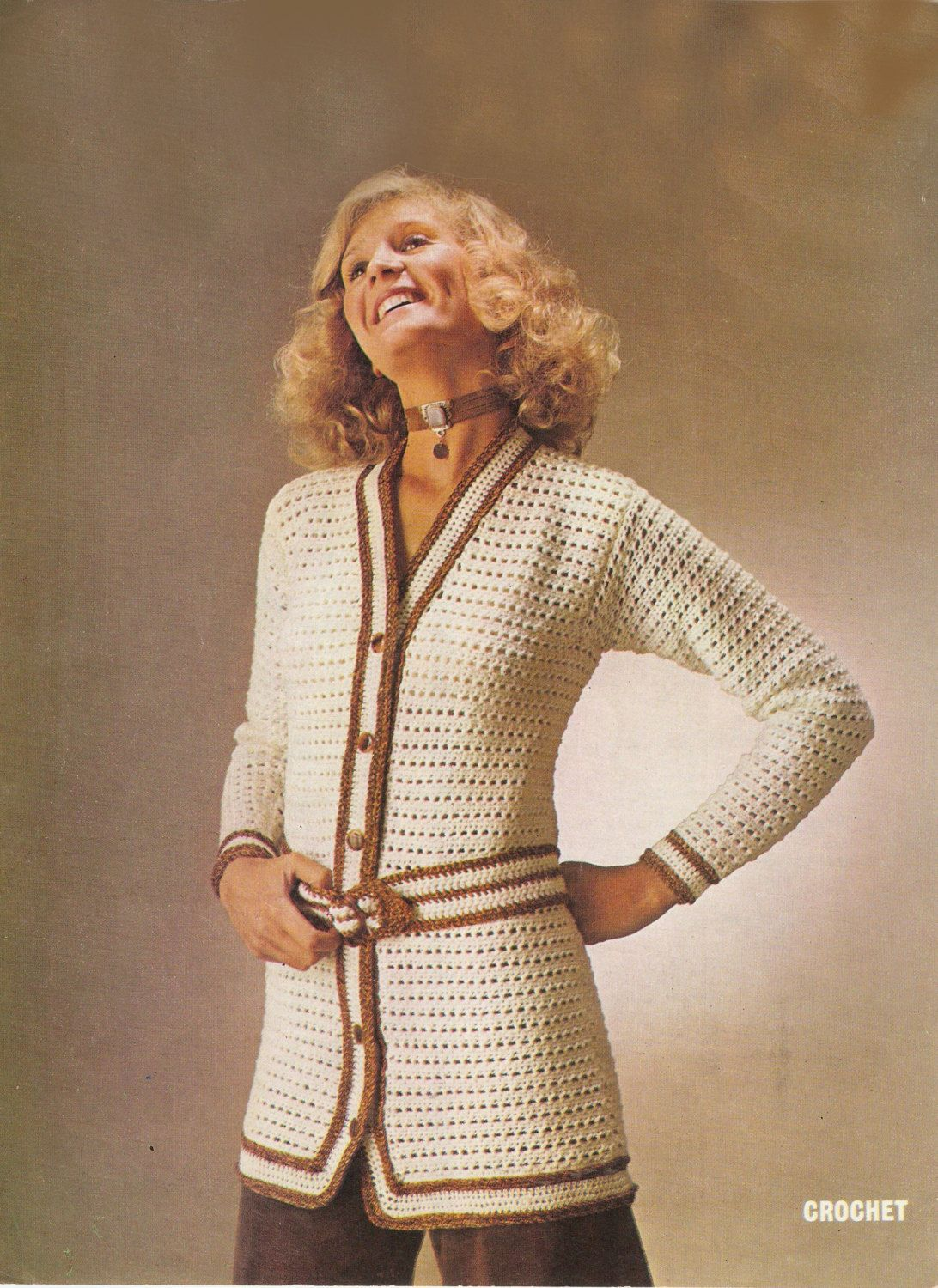 Crochet jacket pattern in double knitting and 4ply by ...
