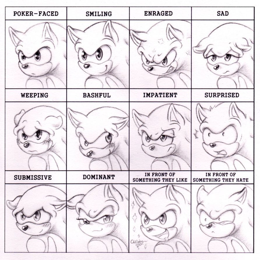 Expression Meme - Sonic By RAWN89