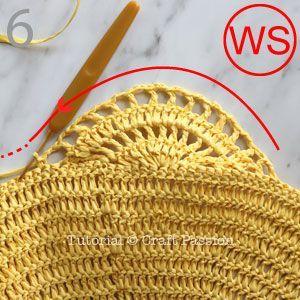 Fourre-tout à motif de crochet • Patrons gratuits au crochet | Passion artisanale • Page 2 …   – 조개뜨기