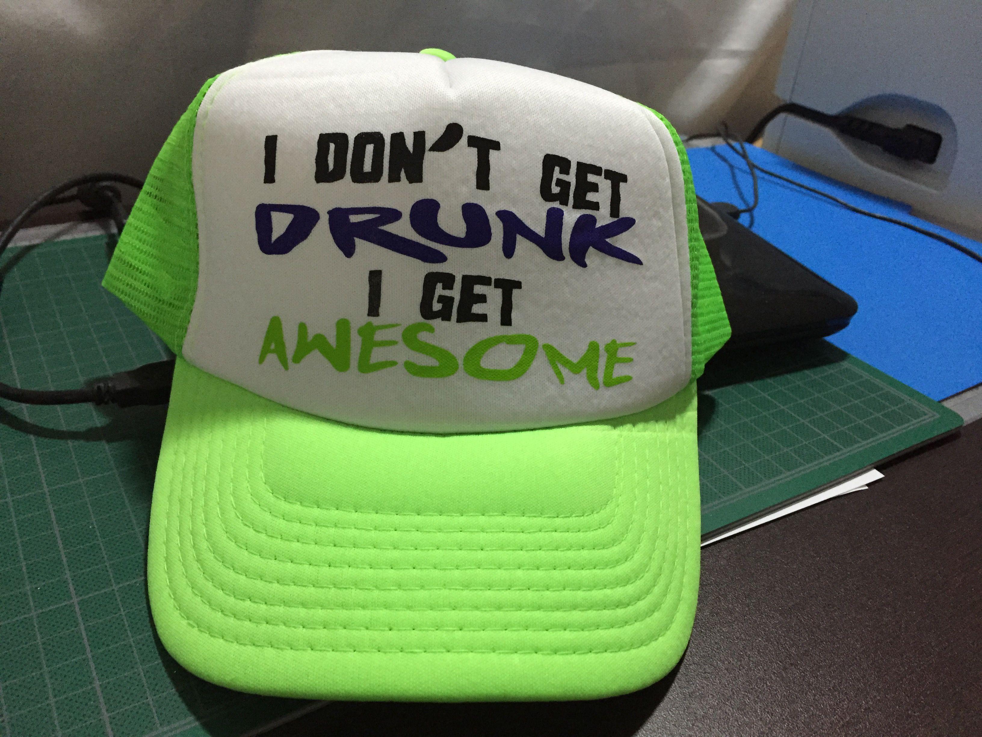 Gorra personalizada en vinil textil
