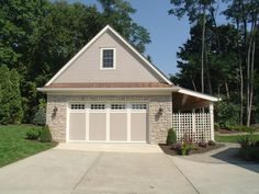 Two Car Garage Overhang One Side Detached Plans With Porch