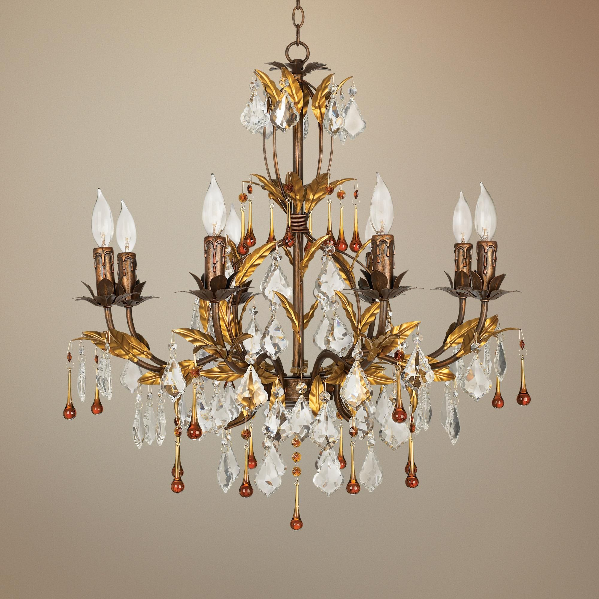 Kathy Ireland Venezia Gold 8 Light 26 Wide Chandelier