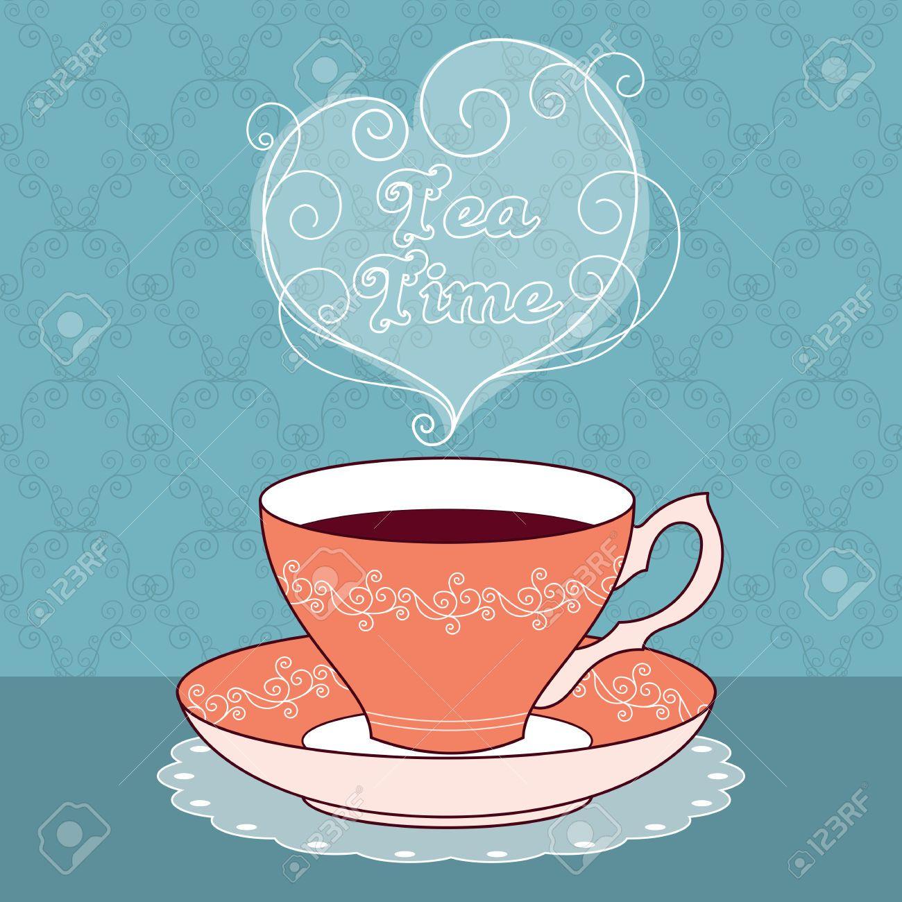 Stock Vector in 2020 Tea cups, Vintage tea, Tea