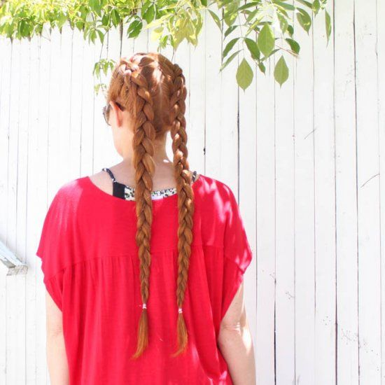 Video tutorial shows you how to make double reverse French braids inspired by Iggy Azalea.