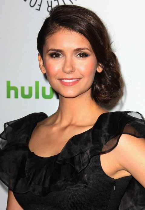 Side Bun Hairstyles loose side bun for women Latest Beautiful Bobby Pinned Low Side Bun Updo From Nina Dobrev