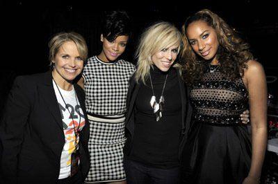 Katie Couric, Natasha Bedingfield, Rihanna and Leona Lewis