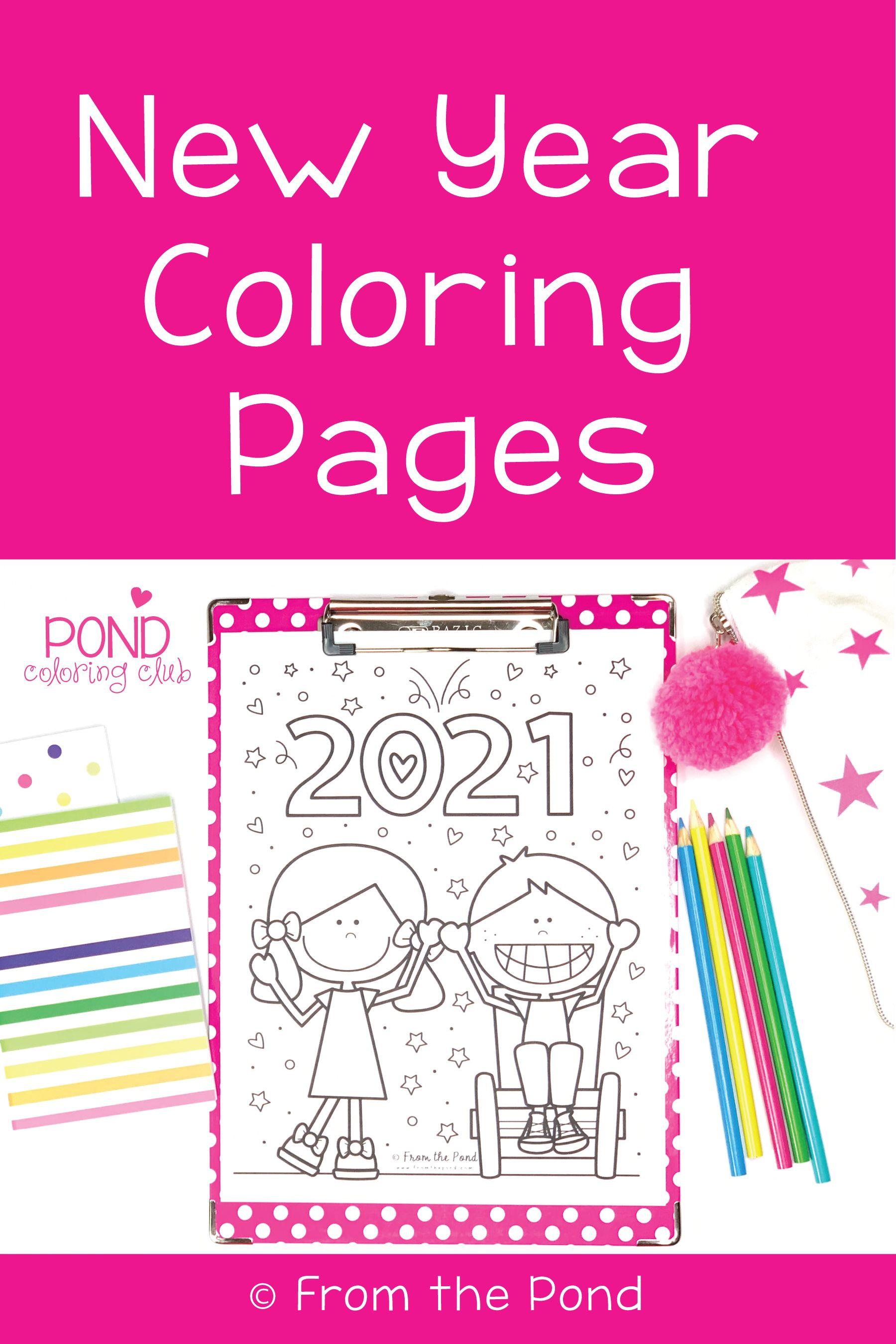 New Year Coloring Pages New Year Coloring Pages Coloring Pages Color Club [ 2700 x 1800 Pixel ]
