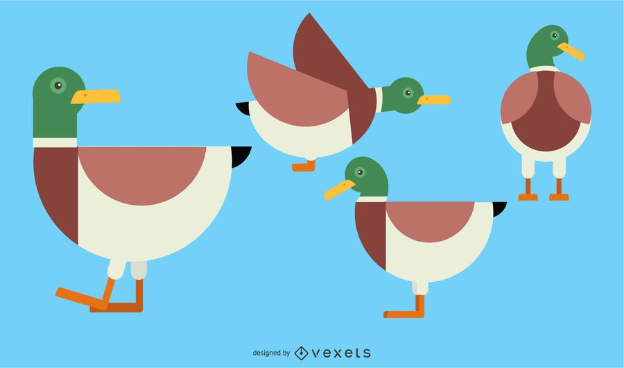 Duck rounded geometric set ad ad affiliate rounded