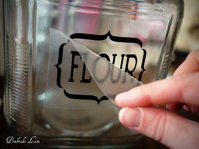 Glass Jar Labels And Vinyl Transfer Tutorial Vinyl Pinterest - Vinyl stickers for glass bottles