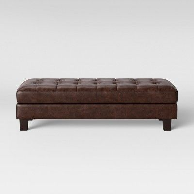 Stupendous Edgemere Sectional Sofa And Large Ottoman Faux Leather Brown Cjindustries Chair Design For Home Cjindustriesco