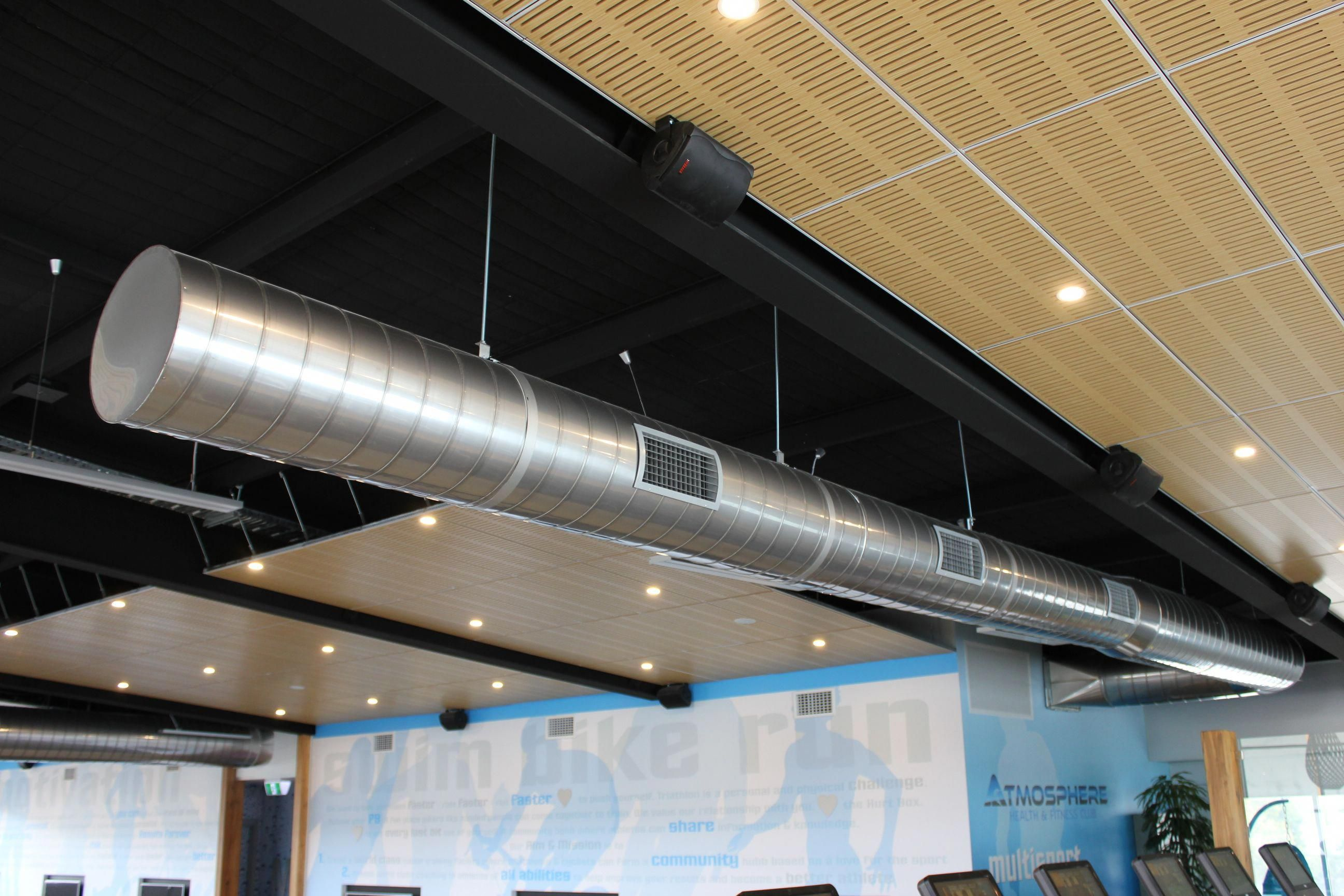 My office has an air conditioning duct like this. It