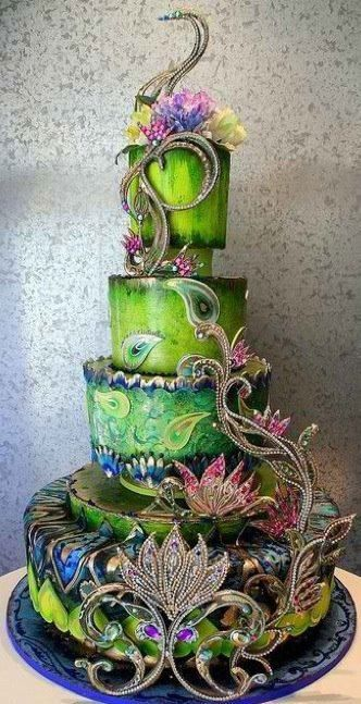 What a beautiful, unique cake!