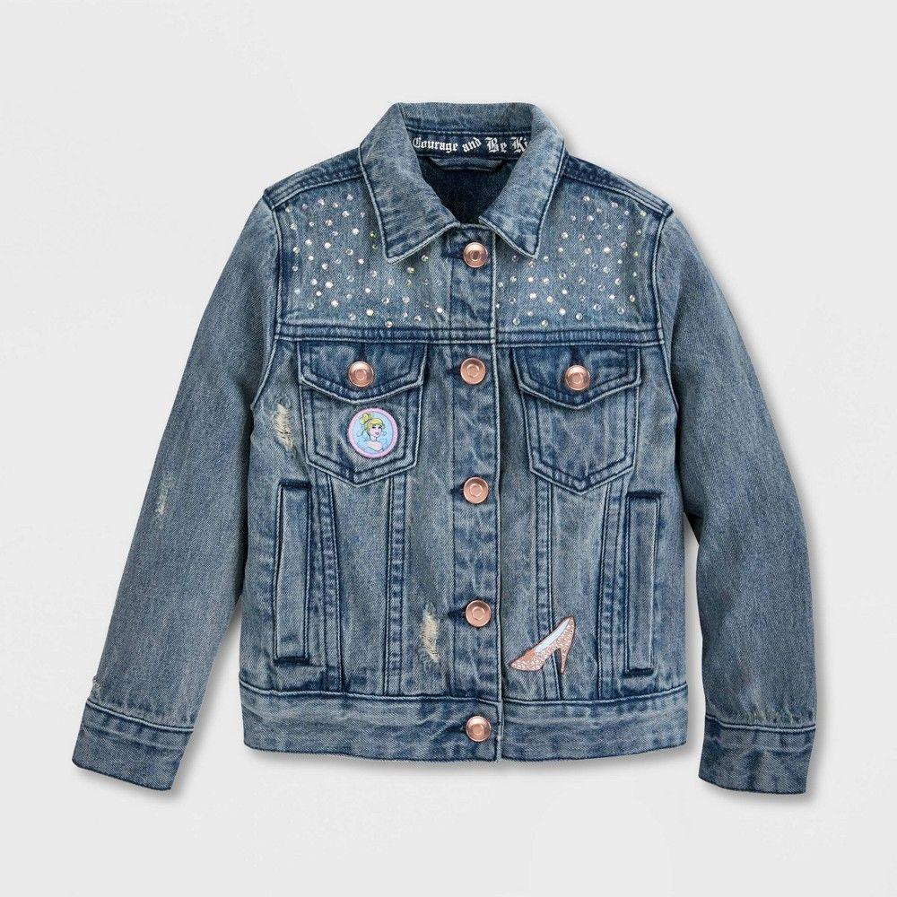 Girls Disney Cinderella Jean Jacket Blue 3 Girl S Denim Jacket Girls Jacket Jackets [ 1000 x 1000 Pixel ]