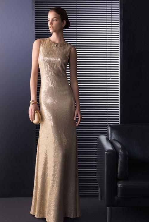 Vestidos de coctel para bodas de oro