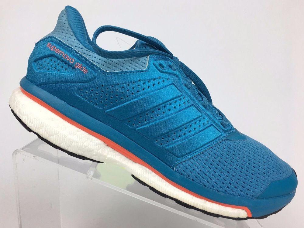 Adidas women's supernova glide 8 boost running shoes craft blue (bb4041)  size 11