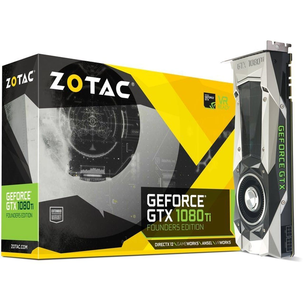 Zotac Geforce Gtx 1080 Ti Founders Edition 11gb Pci E Graphics Card Graphic Card Nvidia Video Card