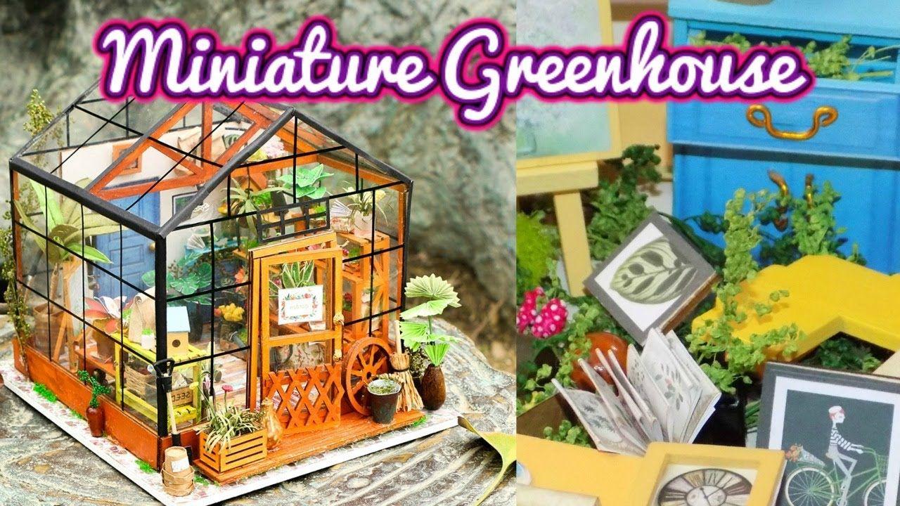Diy miniature greenhouse dollhouse kit cathys flower