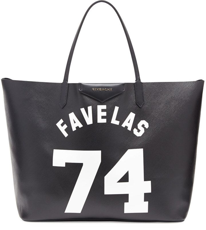2395550494 Givenchy Antigona Favelas 74 Large Shopper Bag, Black/White on shopstyle.com