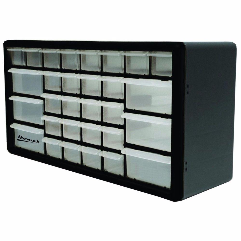 30 Compartment Tool Box Drawer Organizer Storage Cabinet Parts