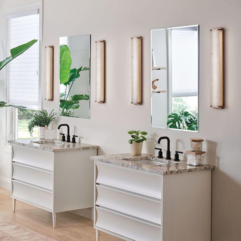 Top Trends In Bathroom Lighting Design Inspirations Lightsonline Blog Bathroom Lighting Design Bathroom Lighting Small Bathroom Remodel