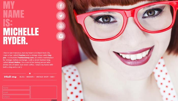 20 Creative Resume Website Templates to Improve Your Online - free html resume templates