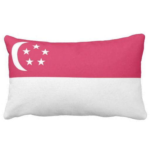 Flag Singapore Lumbar Pillow