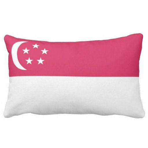 Flag Singapore Lumbar Pillow